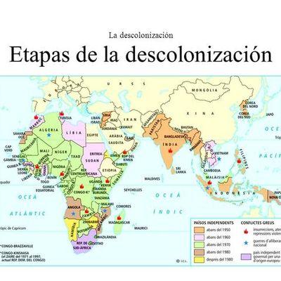 Etapas de la descolonización timeline