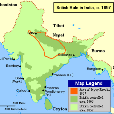 IMPERIALISM IN INDIA timeline