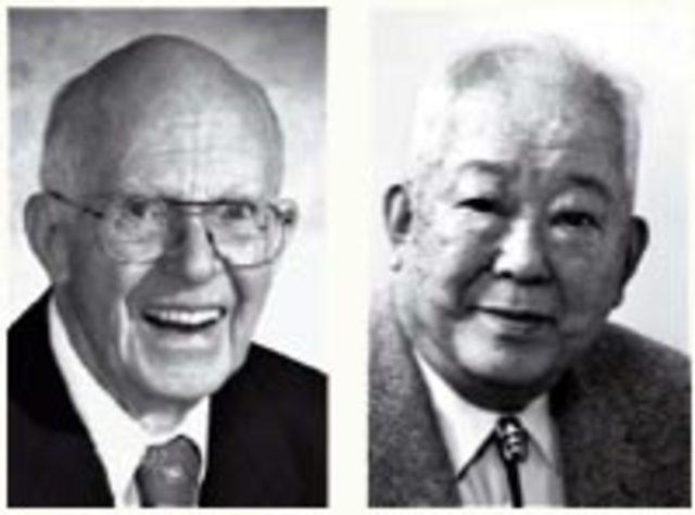 Raymond Davis Jr.  y Masatoshi Koshiba