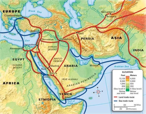 4A Ayshia Williams World History Timeline | Timetoast ... Hegira Map