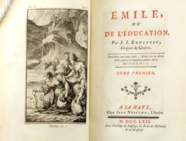 rosseau escribe emilio o educacion.