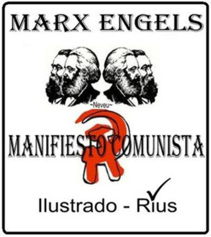 marx redacta el manifiesto de comunistas.