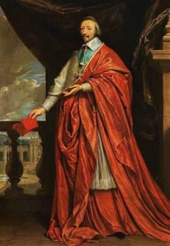 Richelieu es nombrado cardenal por Luis XIII