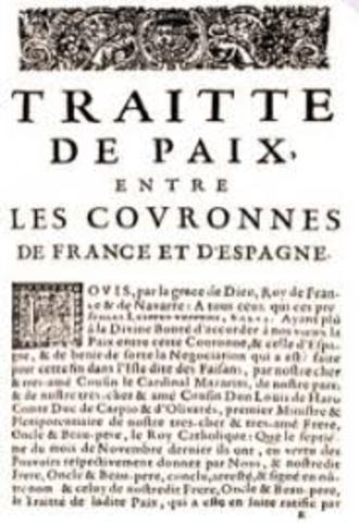 Se firma el tratado de Paz de los Pirineos