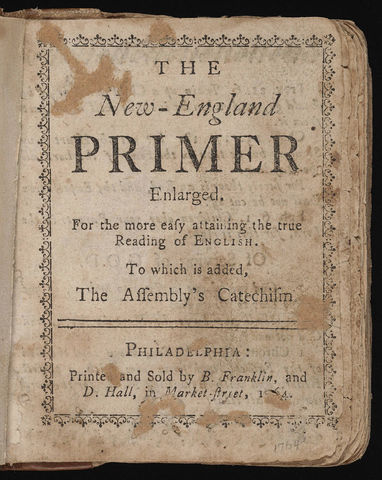 First Publication of the New England Primer