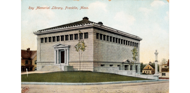 First Public Library Opens in Franklin, Massachusetts in 1790