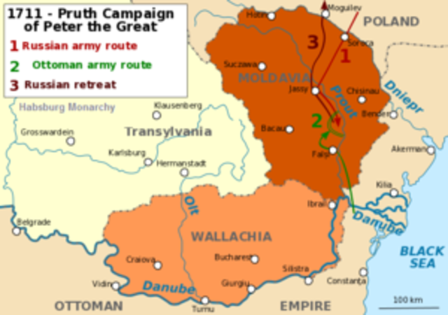 The Pruth River Campaign 1710-1711