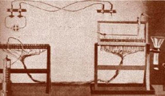 Primer sistema transcontinental de microondas