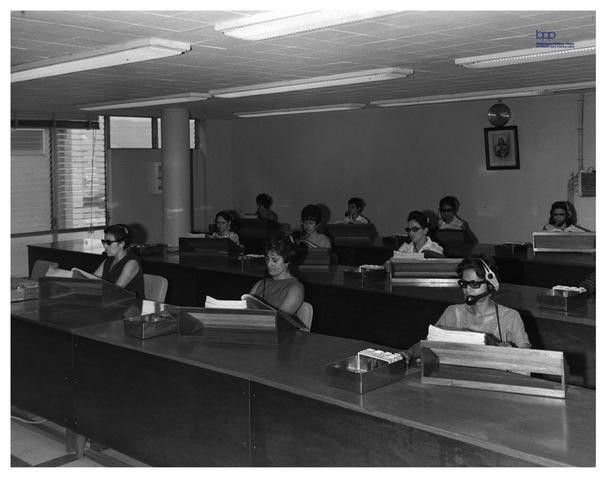 Instalación de la primera oficina informatizada