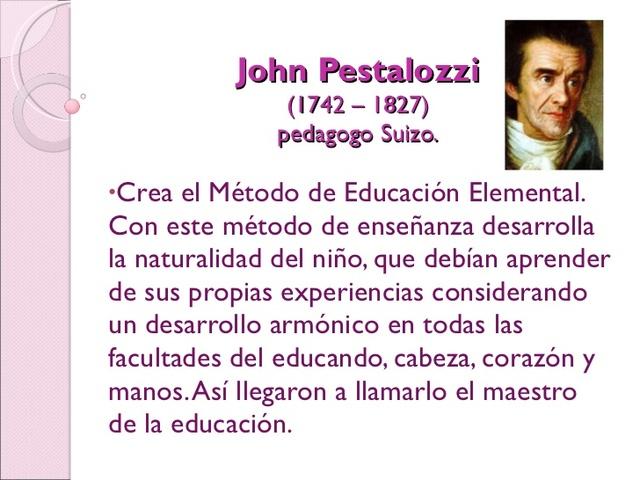 John Pestalozzi (1746- 1827)