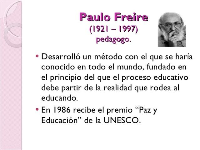 Paulo Freire (1921 – 1997)