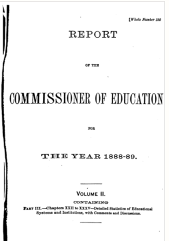 US Commissioner of Education Report 1888-1889