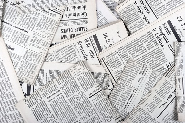 Frist exposure to newspaper