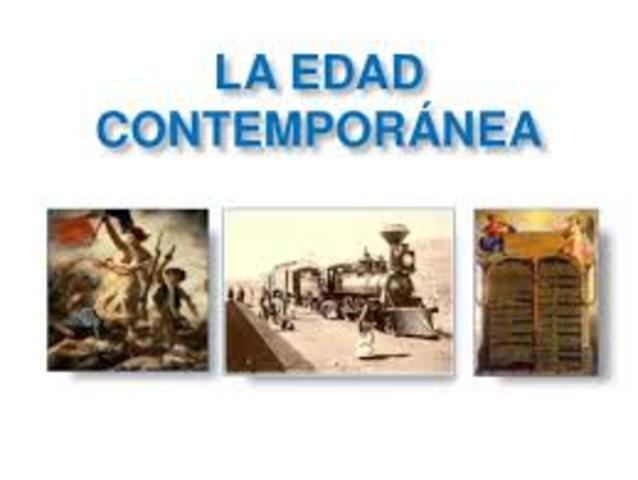 EDAD CONTEMPORANEA  (1789- al presente)