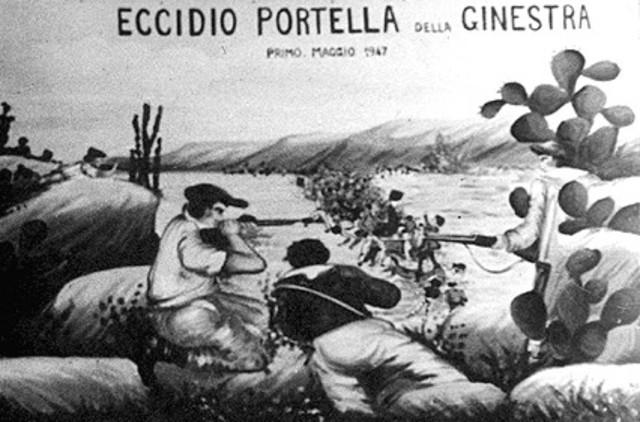 Portella della Ginestra massacre in Sicily