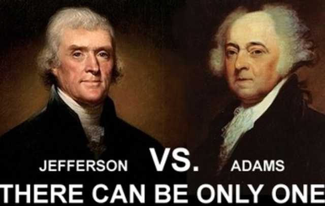 Thomas Jefferson vrs. John Adams,