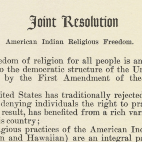 a review of the american indian religious freedom act of 1978 The american indian religious freedom act (airfa) , passed in 1978, affirms a   of any affected native american tribe in the environmental review process.