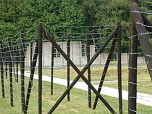 The fence around the camp Anne Frank stayed at