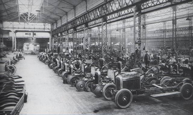 Producción masiva de autos