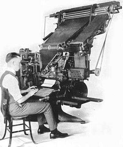 Siglo XIX Linotipia y la monotipia