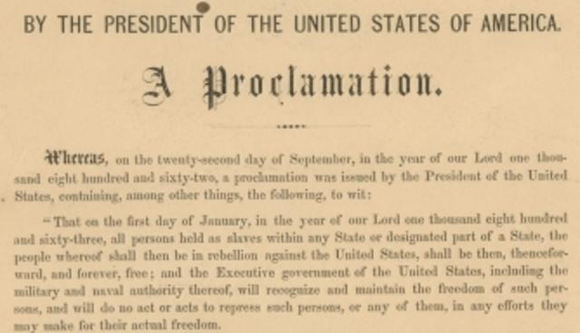 Module 8: Emancipation Proclamation