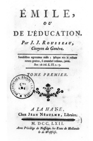 Jean-Jacques Rousseau publishes Emile, or On Education in 1762