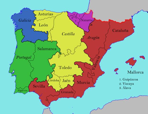 Península ibérica a finales del siglo XV