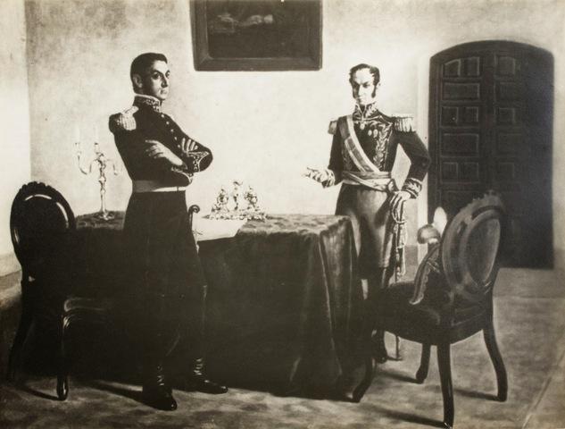 Encuentro entre Paez Y Bolivar