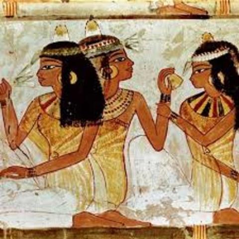 Egipto. Documento del escriba y testigo.