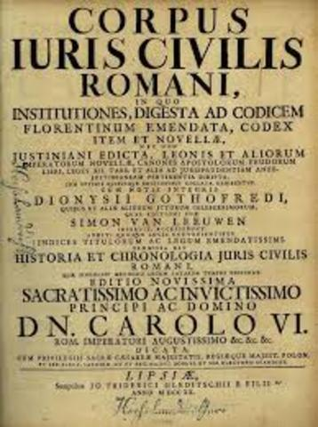 Corpus Juris Civilis de Justiniano.