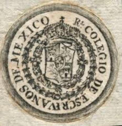 Real Colegio de Escribanos de México.