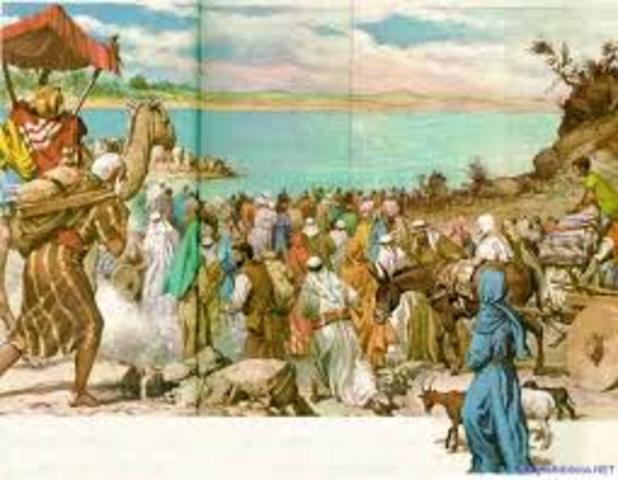 Su llegada a Egipto.