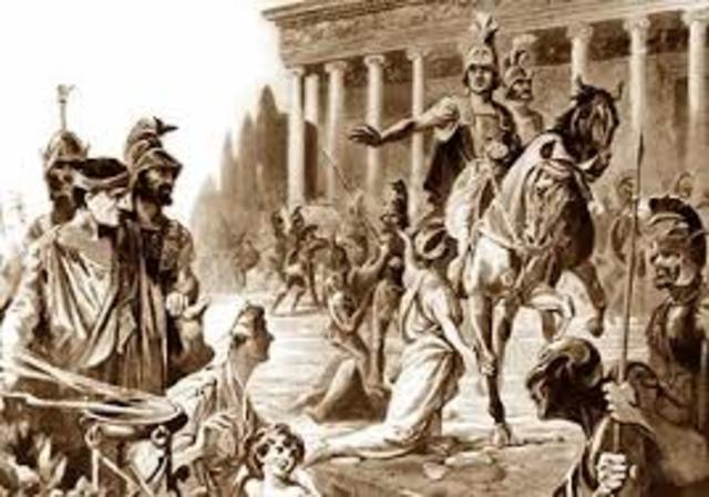 Alejandro Magno se apodera de Jerusalen.