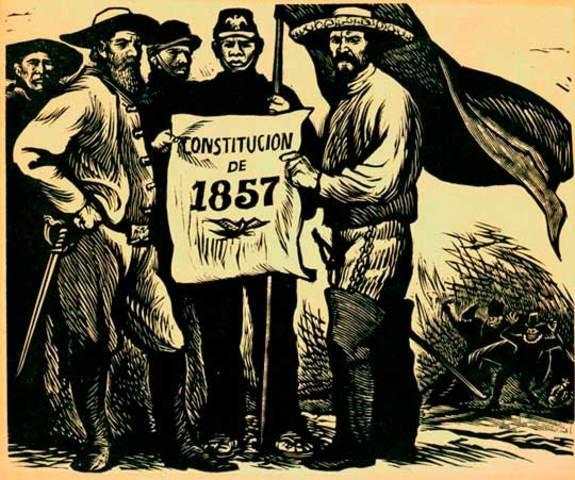 La Constitución de 1857.