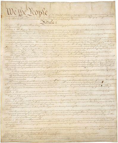 Original Constitución de los Estados Unidos.