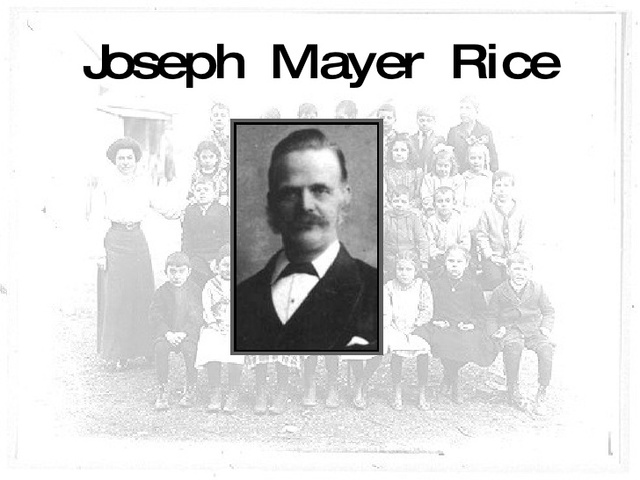 Joseph Mayer Rice