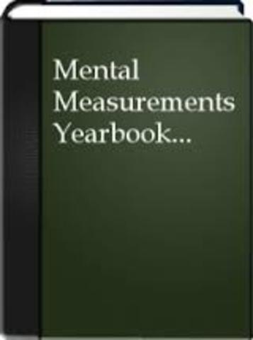 """The Mental Measurements Yearbook"""