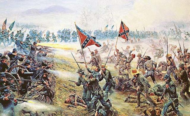 Bull Run, primera gran batalla de la Guerra Civil estadounidense.