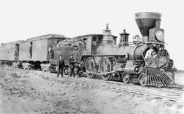 Finalización del ferrocarril transcontinental.