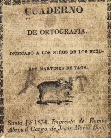 Primer libro impreso en Nuevo México.