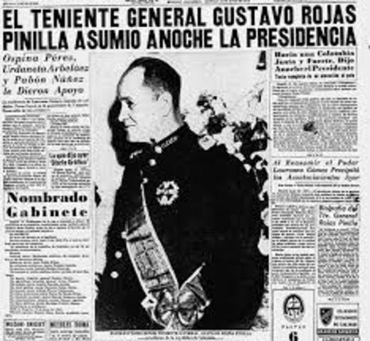 La dictadura militar de Rojas Pinilla