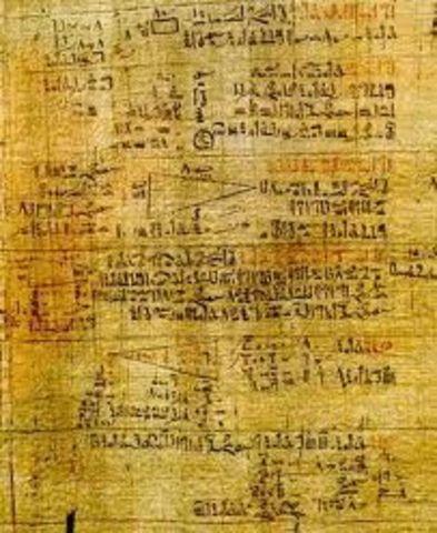 El papiro de Ahmes.