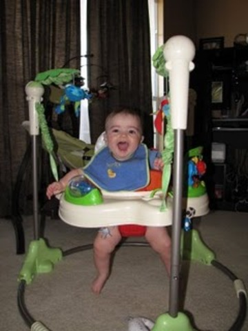 Kason loves to bounce at 5 months!