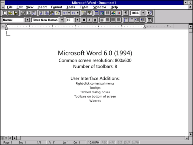 1993: Word 6.0
