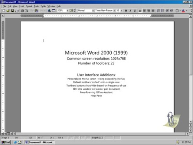 1999: Word 2000