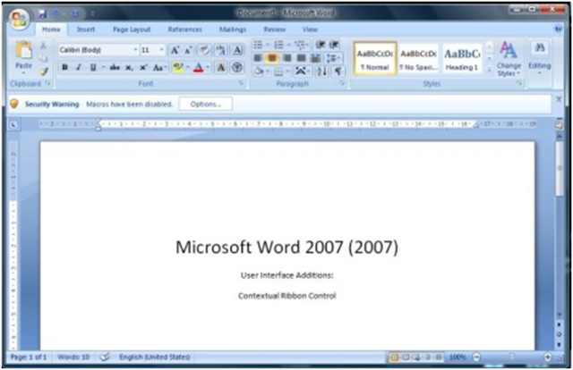 2006: Word 2007