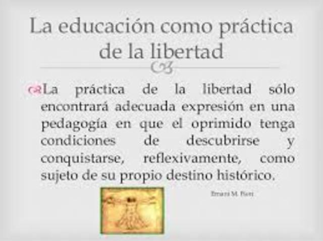 La educación como práctica de la libertad