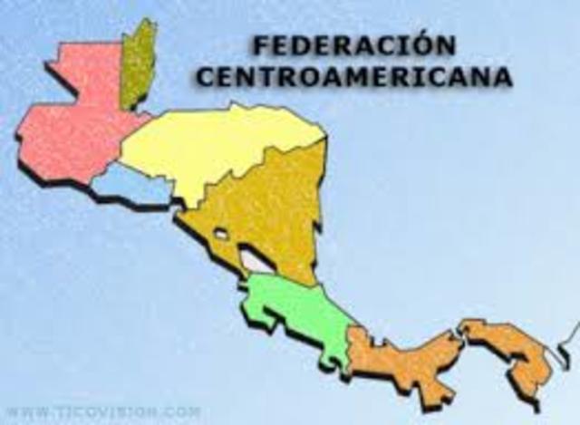 Conformación de la Federación Centroamericana; Costa Rica, El Salvador, Guatemala, Honduras y Nicaragua. Se desintegró en 1838, después de varias guerras civiles.