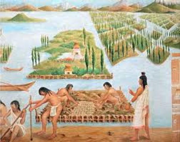 La civilización Azteca economía