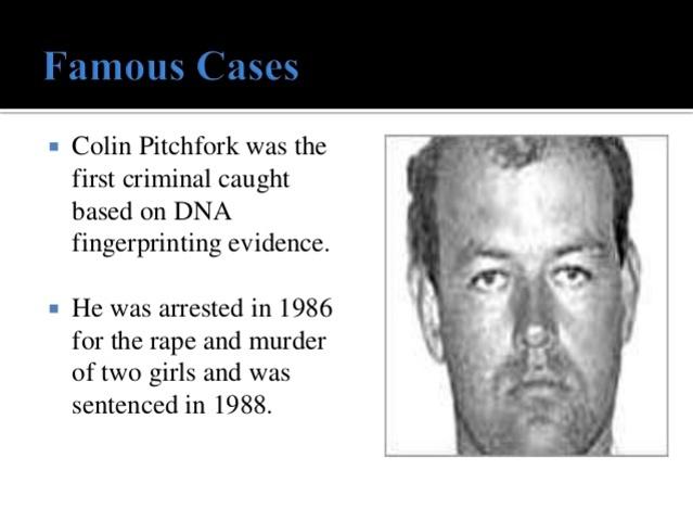 Primer condena a un criminal usando la huella genética